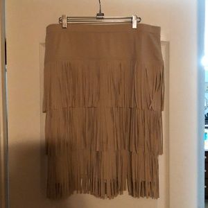 "Chico's Fringe Skirt SZ 2/14 ""Make Me An Offer"""